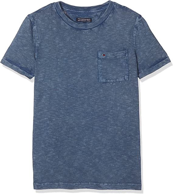 Tommy Hilfiger Ame Gmd Pocket Cn tee S/S Camiseta para Niños: Amazon.es: Ropa y accesorios