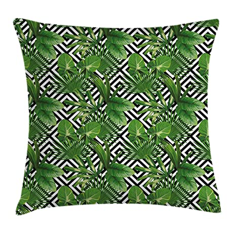 Amazon Ambesonne Banana Leaf Throw Pillow Cushion Cover Custom 36 Inch Square Pillow Cover