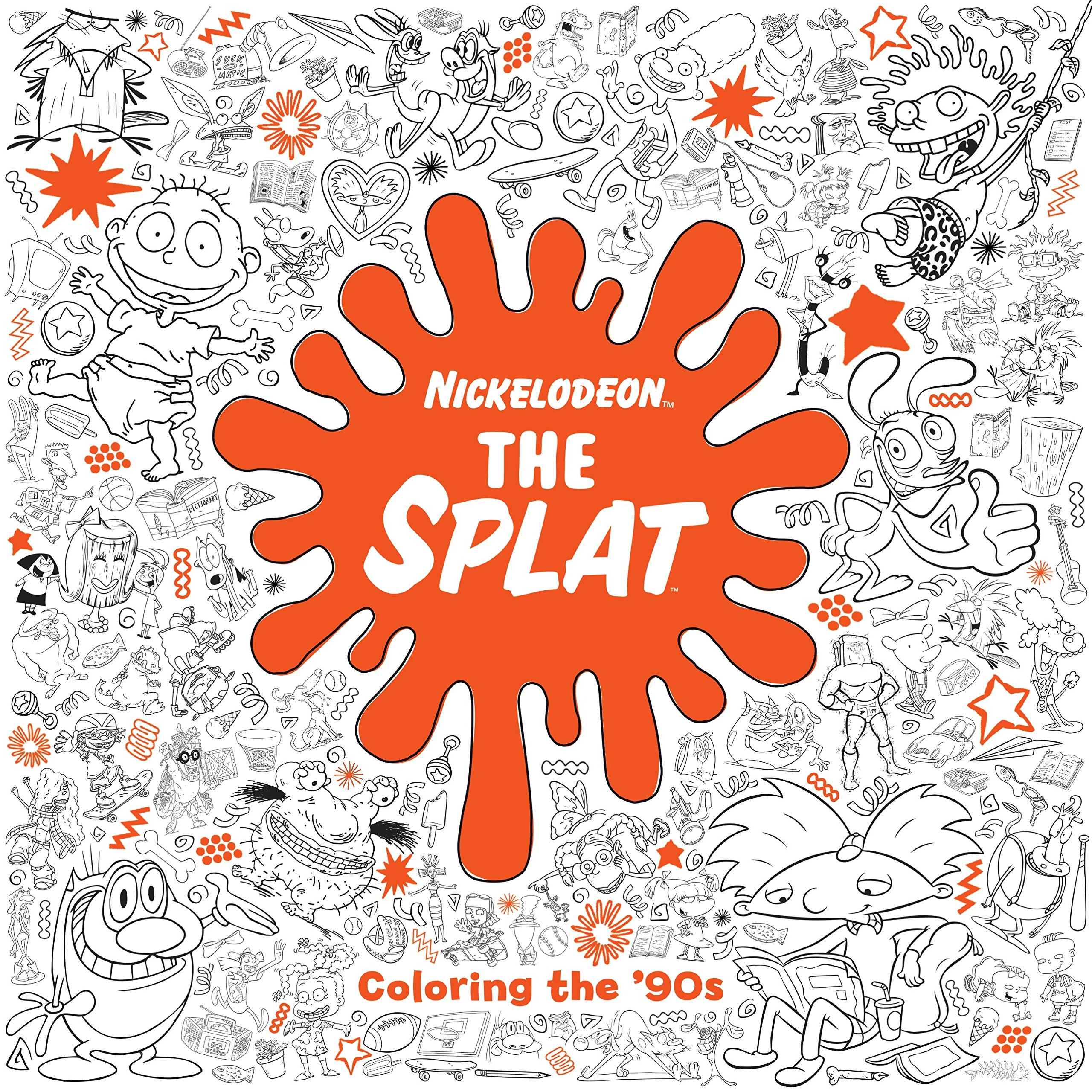 Amazon com the splat coloring the 90s nickelodeon adult