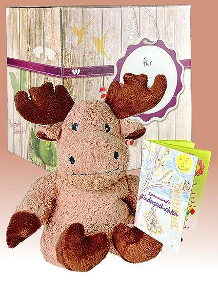 Set de regalo Warmies - reno de peluche de osito de peluche (marrón claro)