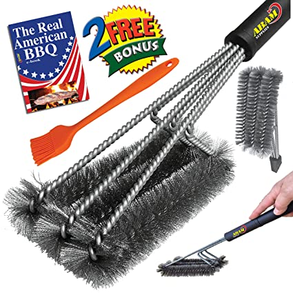Amazoncom ABAM BBQ Stainless Steel 3 CORE GRILL BRUSH Sturdy