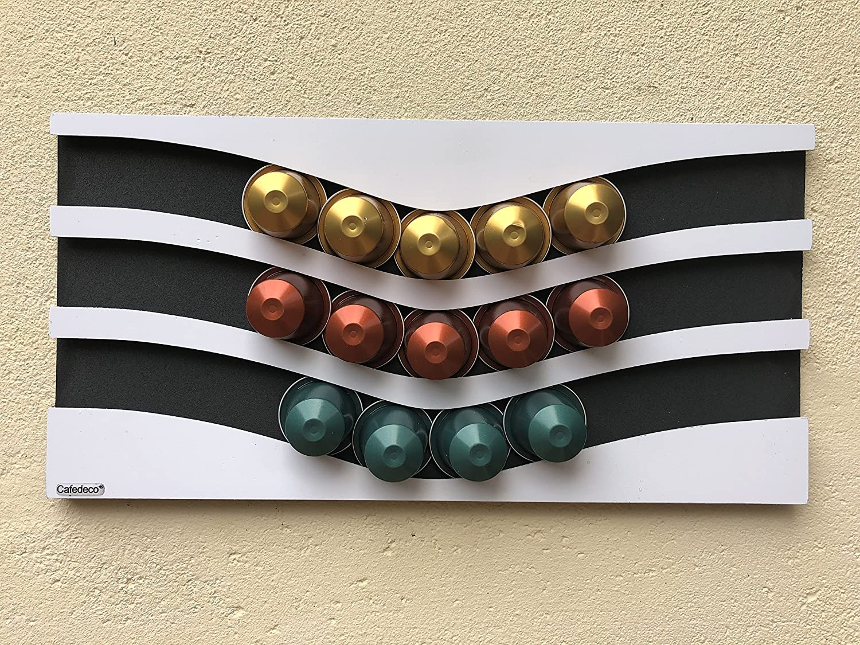 Noir Et Blanc Porte Capsules Distributeur Nespresso Design Capacite 30 Cuisine Maison Petit Electromenager