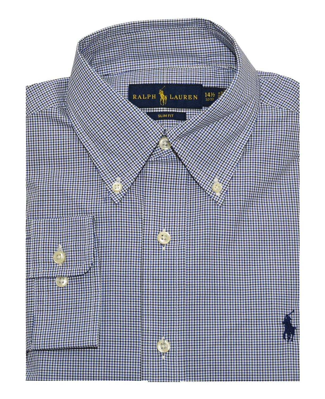 bab331cf46fc RALPH LAUREN Men s Slim FIT Cotton Twill Button-Down Shirt at Amazon Men s  Clothing store