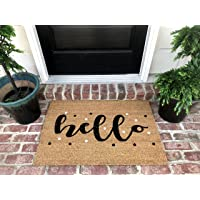 "New Natural Coir Non Slip Hello Floor Entrance Door Mat (18"" W X 30"" L)"