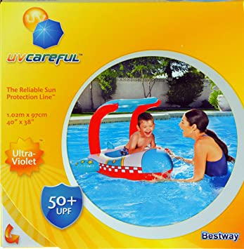 UV Careful Pool Float for Children Reliable Sun Protection Play in Water