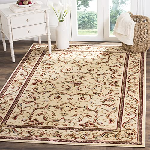 Safavieh Lyndhurst Collection LNH322A Traditional Scrolling Vines Ivory Area Rug 10' x 14'