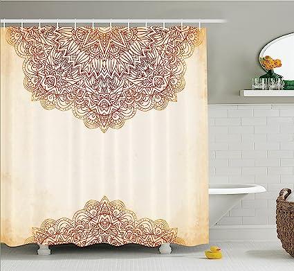Merveilleux Ambesonne Victorian Shower Curtain, Artistic Oriental Vintage Ornate  Pattern Ethnic Henna Style Mandala Artwork Print