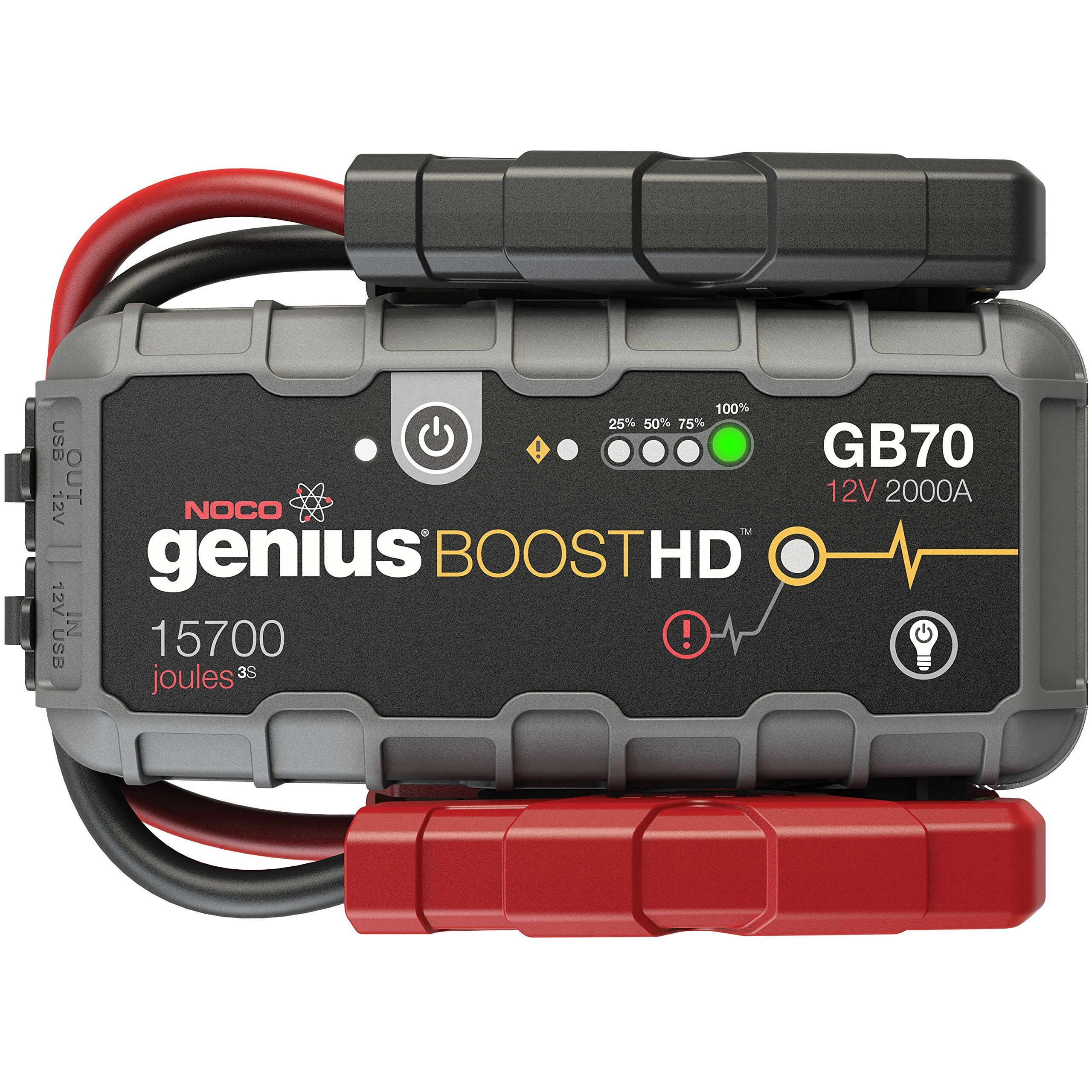 NOCO Genius Boost HD GB70 2000 Amp 12V UltraSafe Lithium Jump Starter by NOCO