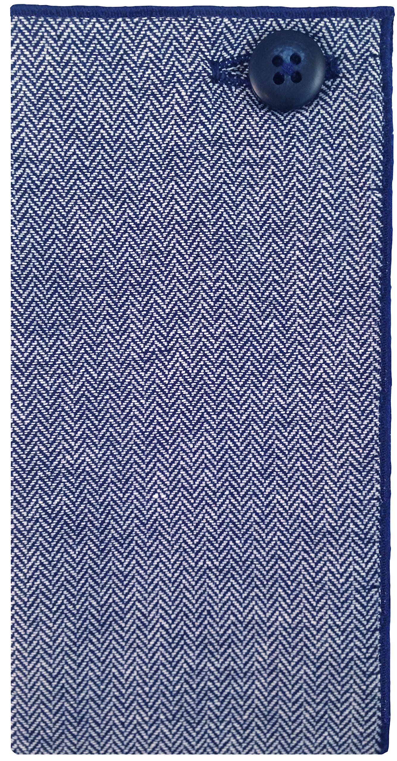 Navy Blue & White Chevron Pocket Square Men's Pocket Square by The Detailed Male by The Detailed Male (Image #1)