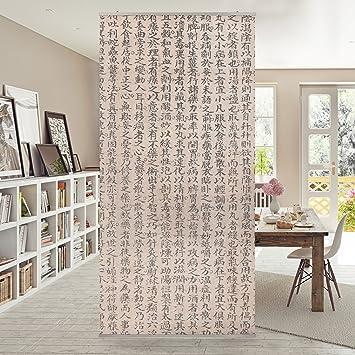 Flächenvorhang Set Chinesische Schriftzeichen 250x120cm ...