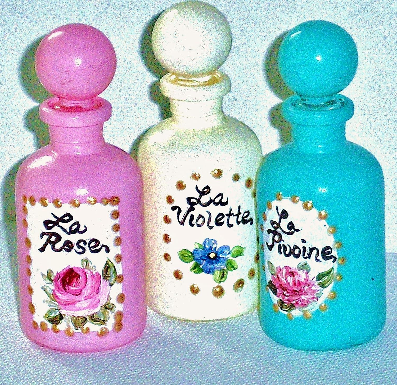 Amazon.com: Shabby Chic Decor Mini Perfume Bottles: Handmade