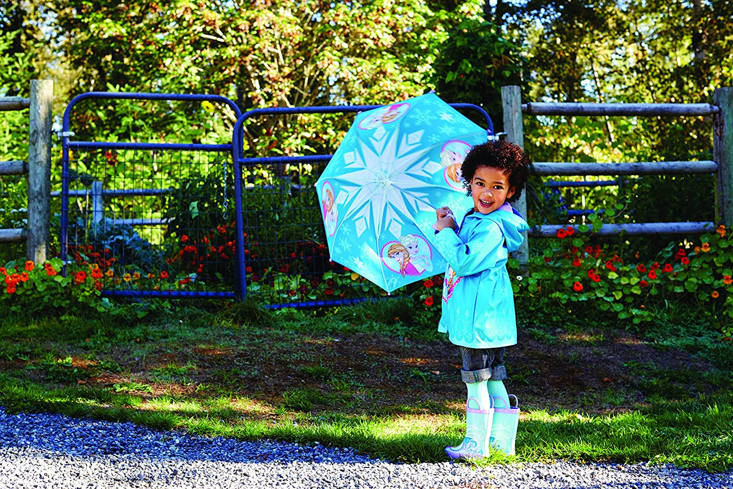 Western Chief Kids Disney Character lined Rain Jacket 2T Frozen Anna and Elsa