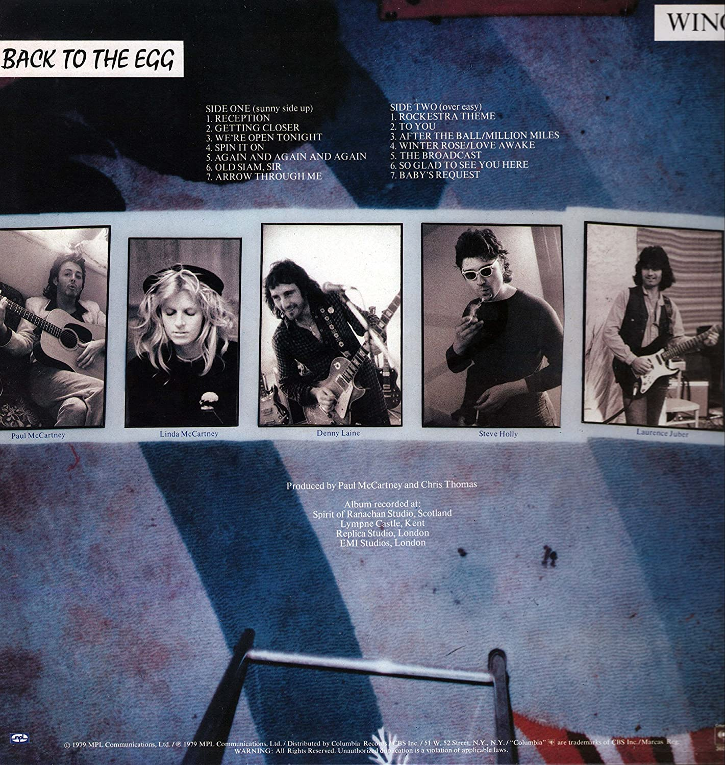 Wings - Back To The Egg - Columbia - FC 36057, MPL Communications - FC  36057 Original recording