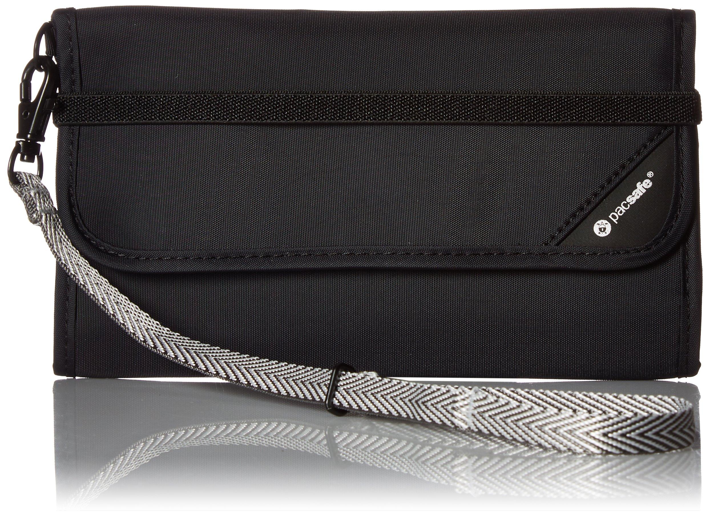 PacSafe RFIDsafe V250 Anti-Theft RFID Blocking Travel Wallet, Black by Pacsafe
