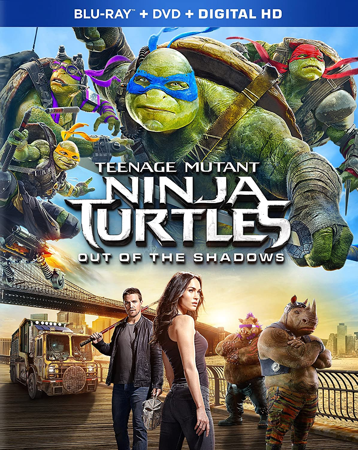 Amazon Com Teenage Mutant Ninja Turtles Out Of The Shadows Blu Ray Megan Fox Will Arnett Tyler Perry Stephen Amell Laura Linney Movies Tv