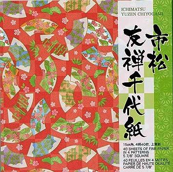 origami ichimatsu yuzen chiyogami assorted papier in der traditionellen japanischen designs yuzen chiyogami - Bastelpapier Muster