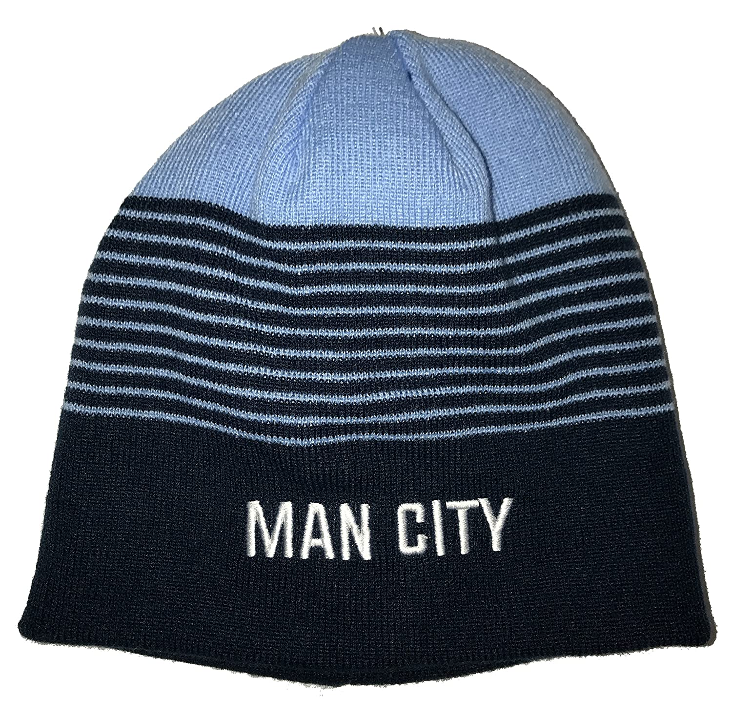 f8ff3516a0409f Icon Sports Manchester City Pom Foldover Beanie at Amazon Men's Clothing  store:
