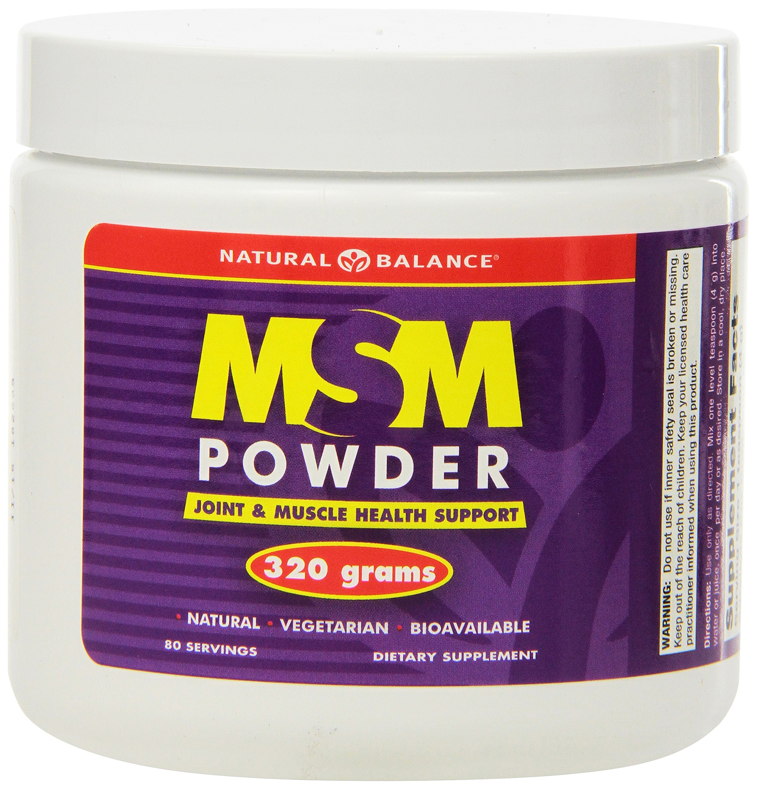 Natural Balance MSM, Unflavored, Powder, 320 Grams (Pack of 6)