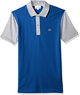 9dca15c1 Lacoste Mens Short Sleeve Color Block Pique Pima Stretch Slim Polo, Ph3170 Polo  Shirt