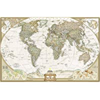 World Executive, Laminated: Wall Maps World: Laminated Executive Line