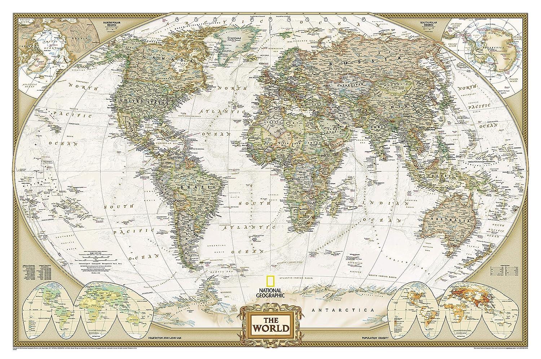 World Political Antique 107,50 X 75 (en anglais)