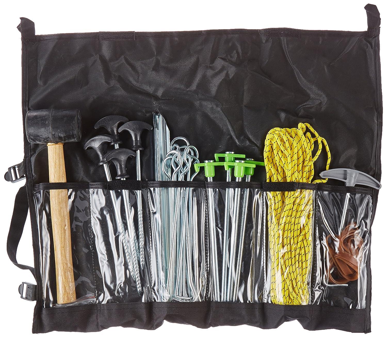 incluye martillo y mucho m/ás Conjunto de accesorios de camping de 52 piezas de Outdoorer piquetas de fijaci/ón para terreno arenoso estacas para terrenos pedregosos estacas de aluminio estacas de rosca