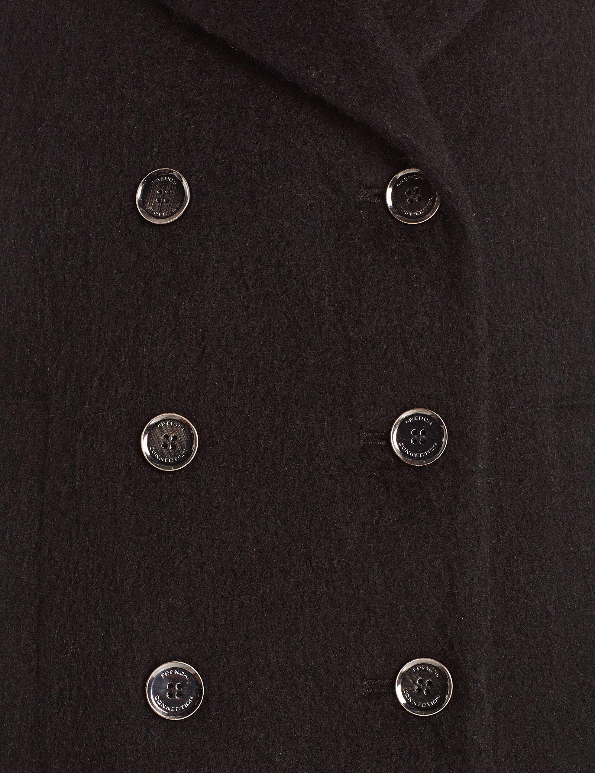French Connection Women's Double Breasted Wool Boyfriend Coat, Black, 6 by French Connection (Image #4)