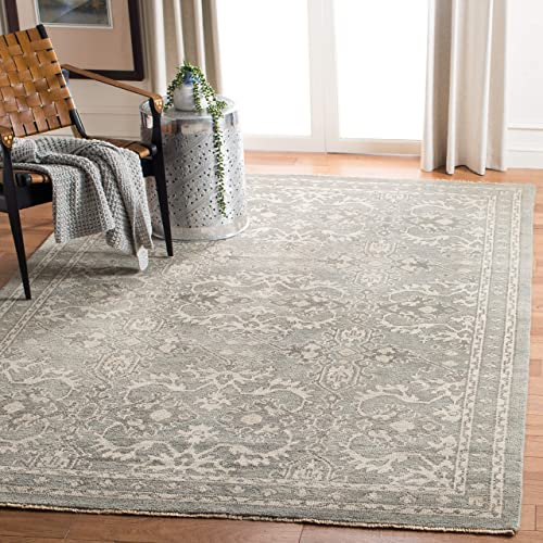 Safavieh Sivas Collection SVS131A Hand-Knotted Wool Area Rug, 9 x 12 , Grey Ivory