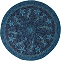 Lightspeed Outdoors Ocean Spirit Round Blanket | Water Repellent Beach Blanket