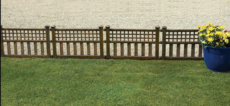 Gablemere Greenhurst Pack Four Plastic Fence Panels in Bronze 4147