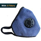 Anplus Mask Anti Pollution Mask Military Grade N99 respirator Mask With Valve Replacement Filter Washable Cotton Anti Dust Mouth Mask For Men Women Navy
