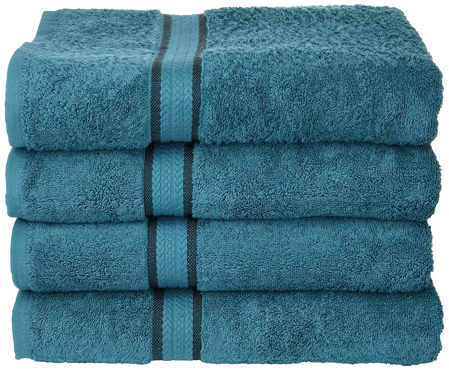 Cotton Craft - 4 Pack - Ultra Soft Oversized Extra Large Bath Towels 30x54 Teal - 100% Pure Ringspun Cotton - Luxurious Rayon Trim - Ideal for Daily Use - Each Towel Weighs 22 Ounces