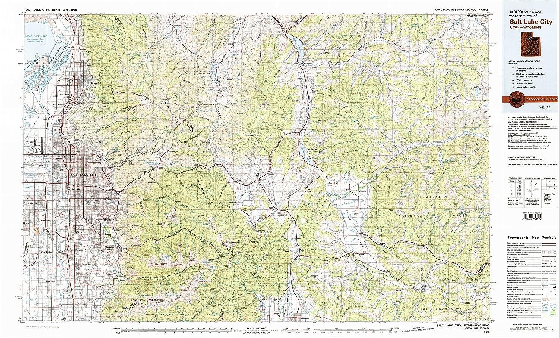 Amazon.com : YellowMaps Salt Lake City UT topo map, 1:100000 ... on san antonio map, denver map, north salt lake map, san francisco map, herriman map, oklahoma map, spokane map, honolulu map, canada map, new orleans map, paris map, united states map, indianapolis map, utah map, salt lake valley map, sacramento map, independence map, omaha map, santa fe map, salt lake county map,