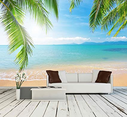 Wall26 Palm Tropical Beach Removable Wall Mural Adhesive Large Wallpaper