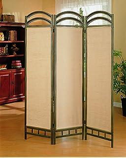 Amazoncom MyGift Asian Oriental Design Large White Beige Wooden