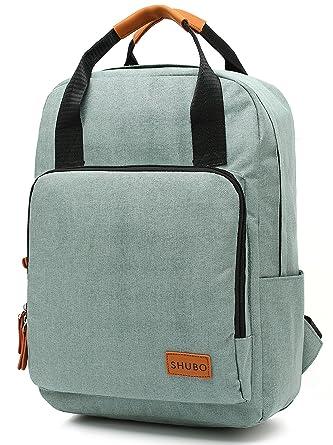 b2df4d14f8b0 Mn&Sue Top Handle Backpack Canvas Rucksack School Book Bags Fits 15 ...