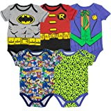 Warner Bros. Baby Boys' 5 Pack Bodysuits - Batman, Robin, Joker and Riddler