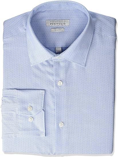Perry Ellis Camisa de Vestir para Hombre con Cuello extendido: Amazon.es: Ropa y accesorios