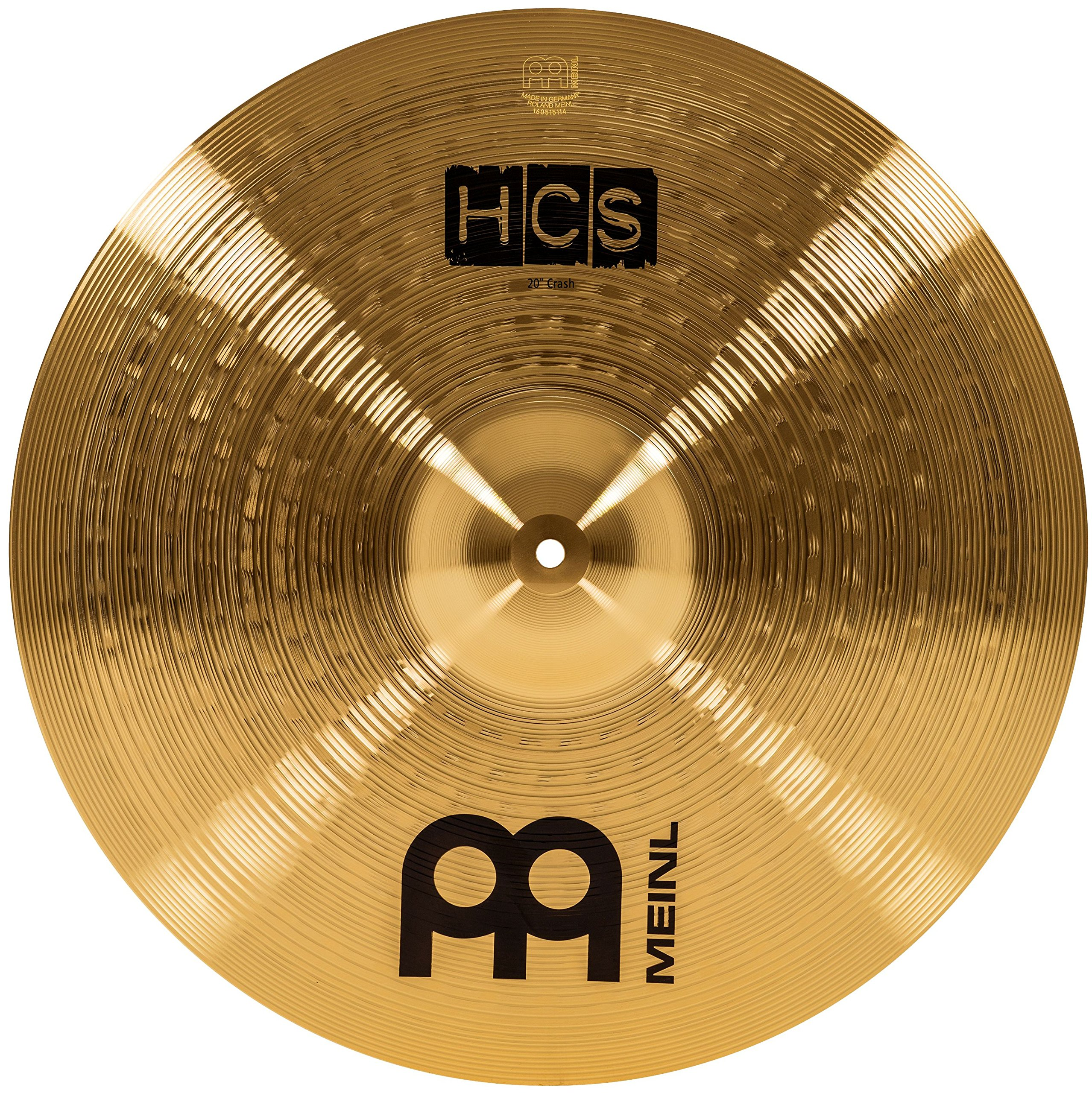 Meinl Cymbals HCS20C 20'' HCS Brass Crash Cymbal for Drum Set (VIDEO)