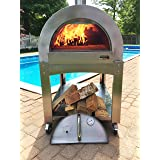 ilFornino Professional Series Wood Fired Pizza Oven - Thicker Gauge Stainless Steel- One-Flat-Cooking-Surface- Double Insulat