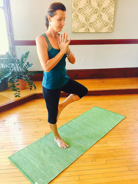 Yogasana Handmade Premium 72-Inch Thick Cotton Yoga Mat/Rug ...