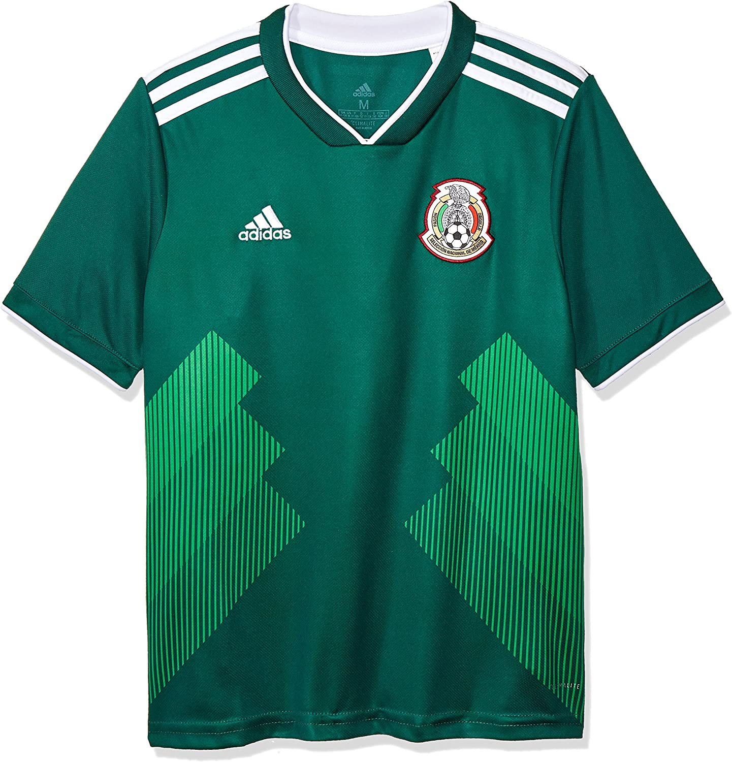 adidas 2018-2019 Mexico Home Football Soccer T-Shirt Jersey (Kids)