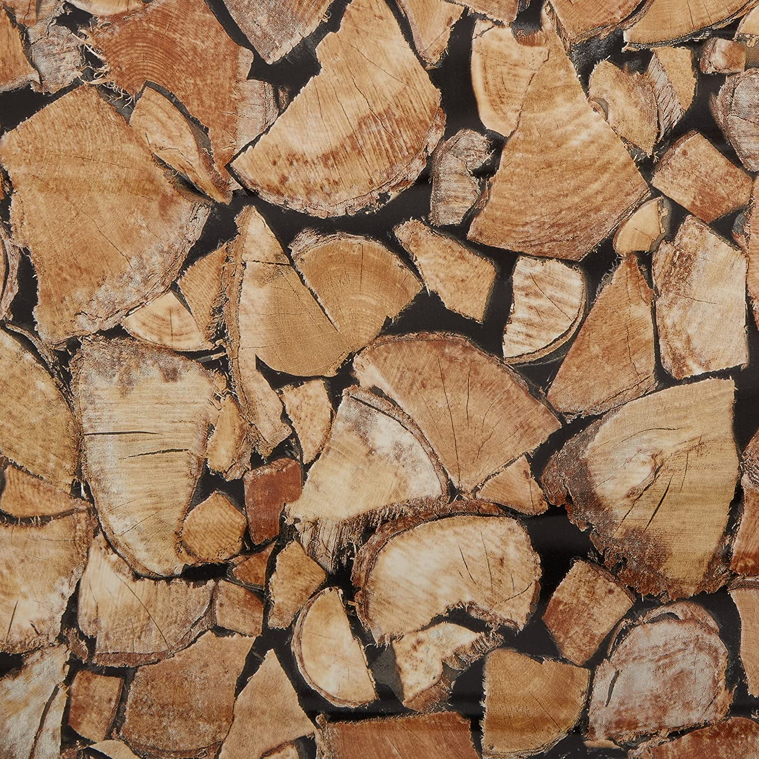 d-c-fix® Sticky Back Plastic Firewood/Logs (self adhesive vinyl film) 45cm x 2m 346-0493 by d-c-fix® Konrad Hornschuch AG