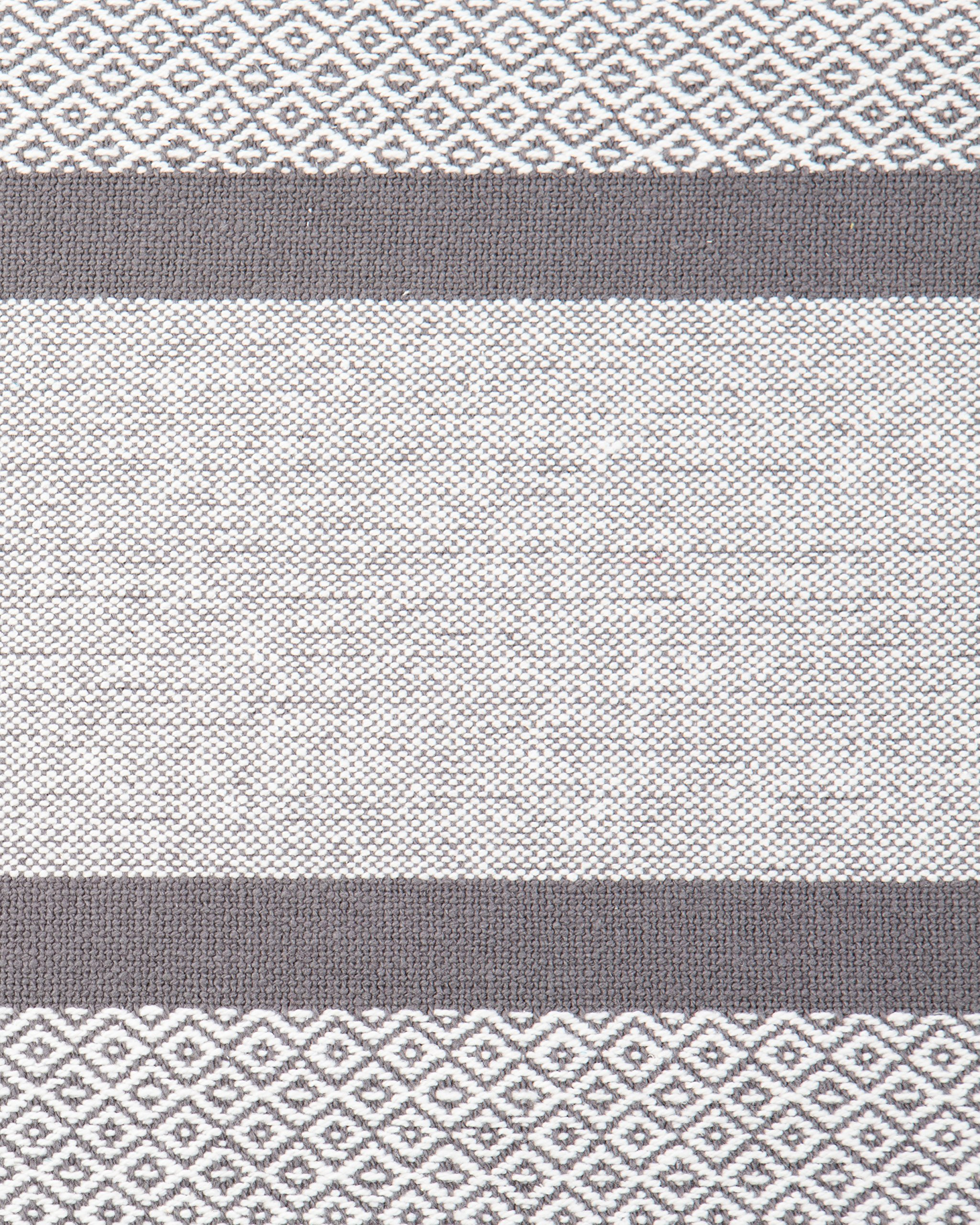 Sticky Toffee Cotton Woven Table Runner with Fringe, Traditional Diamond, Gray, 14 in x 72 in by Sticky Toffee (Image #2)
