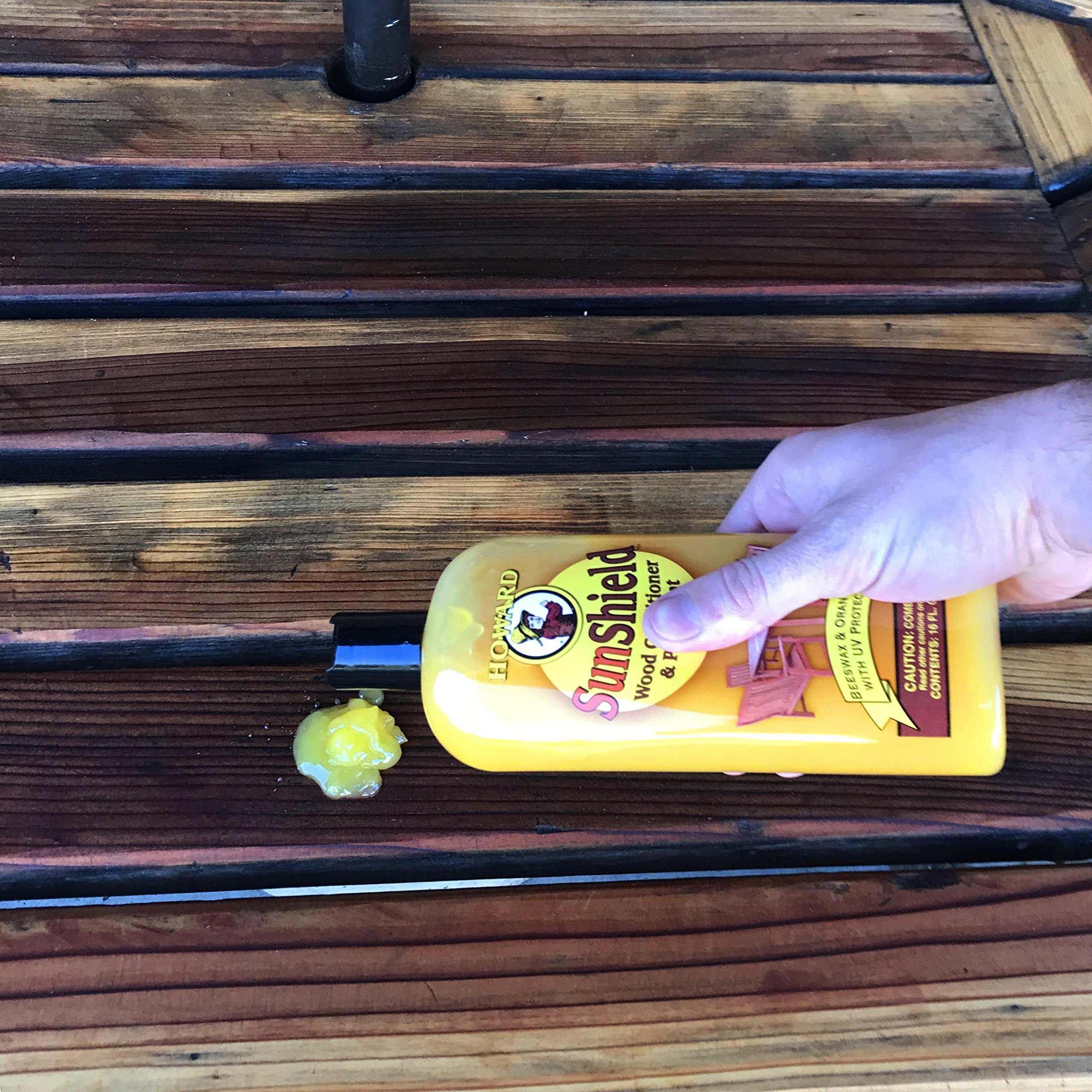 Howard SWAX16 SunShield Outdoor Furniture Wax with UV Protection, 16-Ounce, Yellow by Howard Products (Image #6)