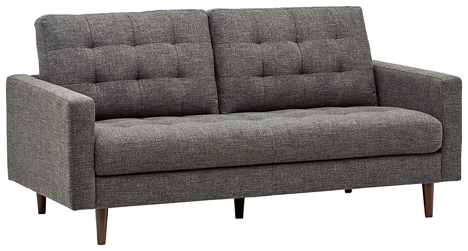 Rivet Cove Mid-Century Modern Tufted Sofa with Tapered Legs
