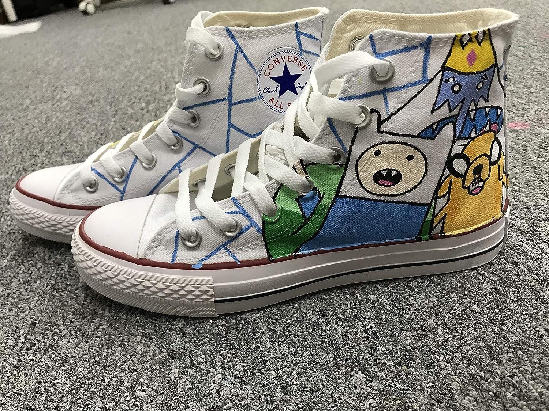 e8f6049fab3d61 Amazon.com  Adventure Time Anime Shoes Custom Canvas Shoes HandPainted  Hightops Shoes Christmas Gifts  Handmade