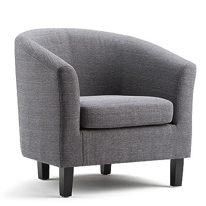 Simpli Home Austin Tub Chair, Grey