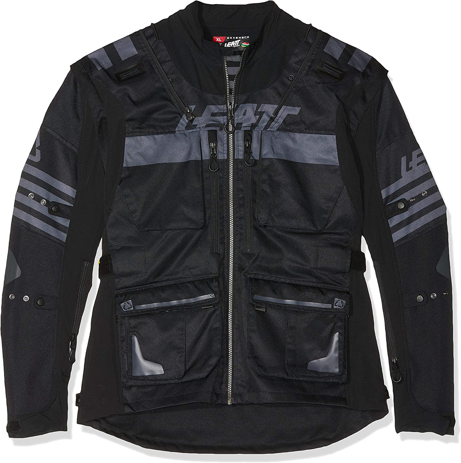 Small, Black Leatt Brace GPX 5.5 Enduro Riding Jacket
