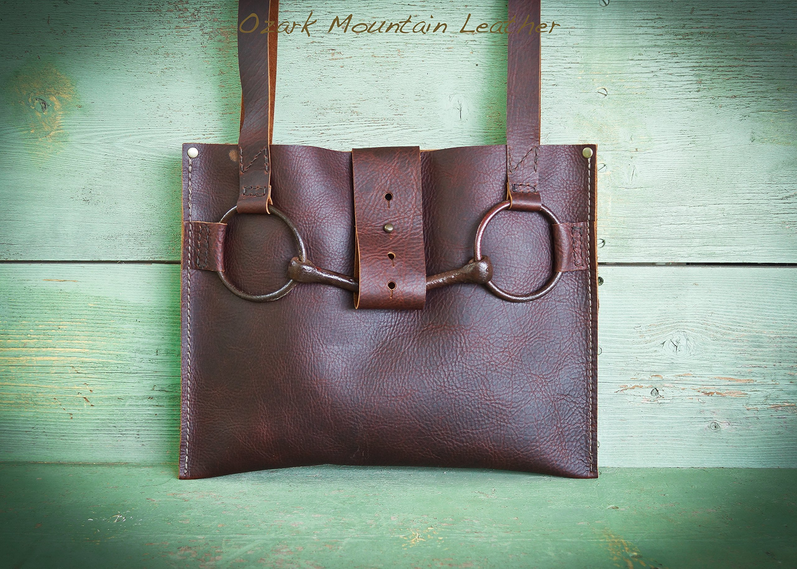American Bison Leather Horse Bit Bag